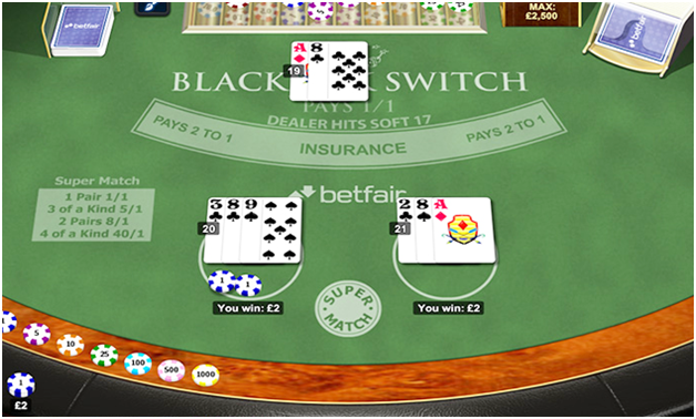 About Blackjack Switch