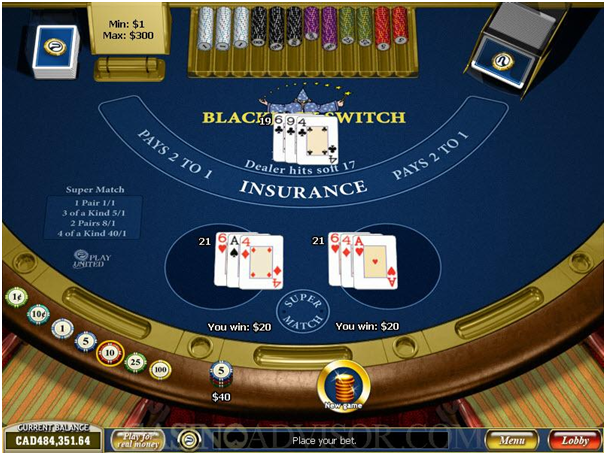 Blackjack Switch Las Vegas