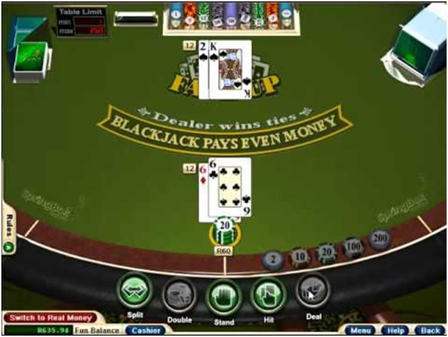 How to play Face up 21 Blackjack