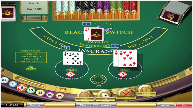 The rules to play Blackjack Switch